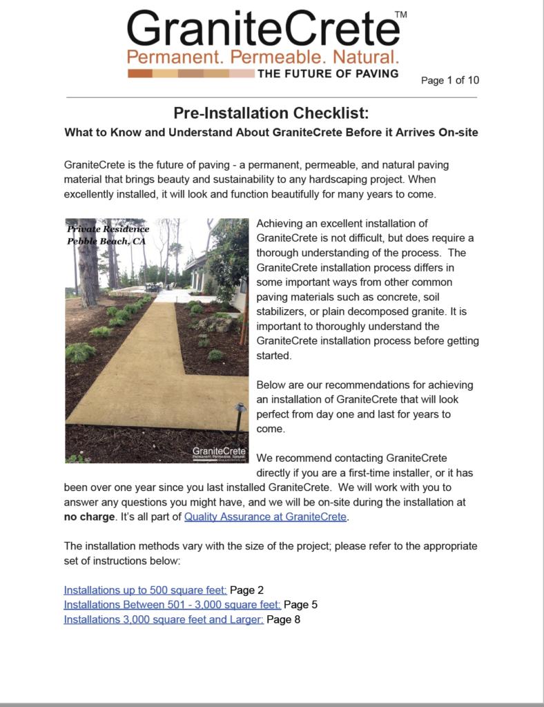 GraniteCrete-Pre-Installation-Checklist-1