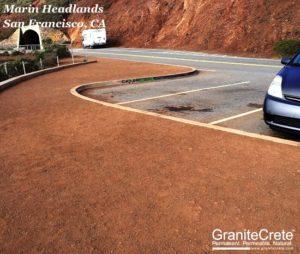 Parking area at the Marin Headlands GraniteCrete installation in San Francisco.