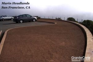 Marin Headlands Custom Color GraniteCrete Installation