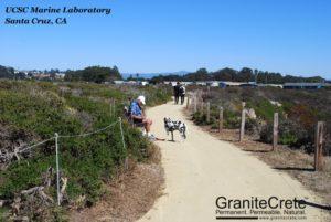GraniteCrete permeable paving pathway at UC Santa Cruz Marine Lab.