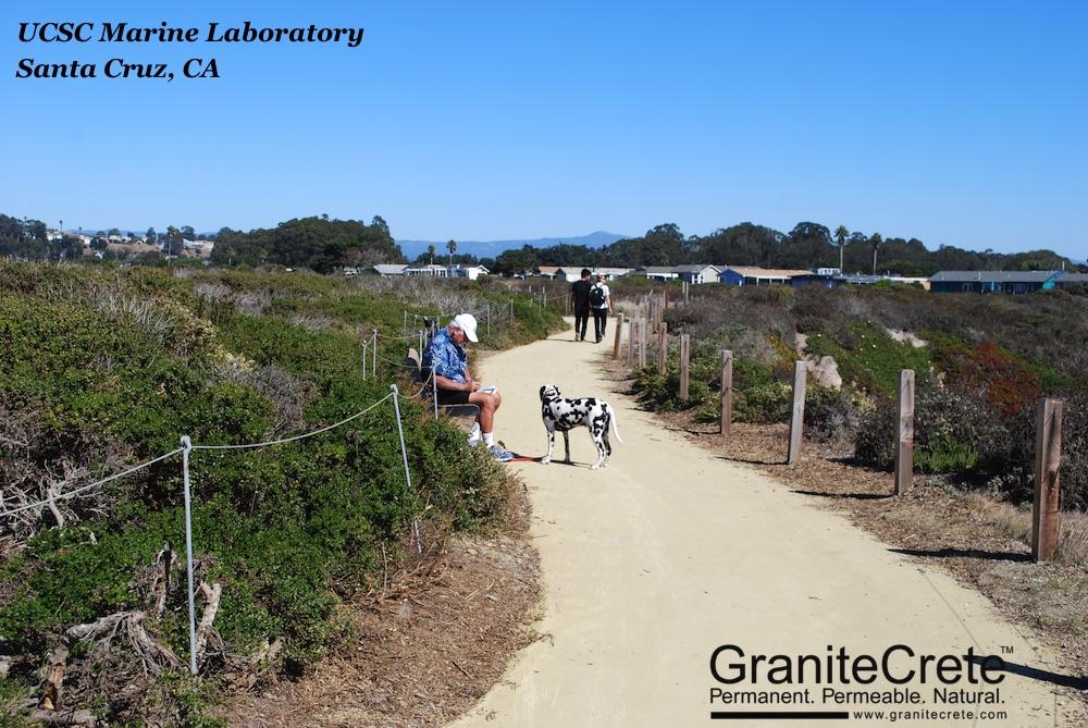 UCSC Marine Lab GraniteCrete Permeable Pathway Santa Cruz