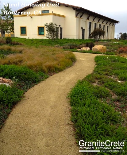 GraniteCrete Permeable Pathway Monterey Naval Housing Unit