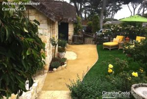GraniteCrete permeable paving patio at a home in Carmel.