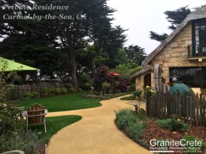 GraniteCrete permeable paving pathway at a home in Carmel.