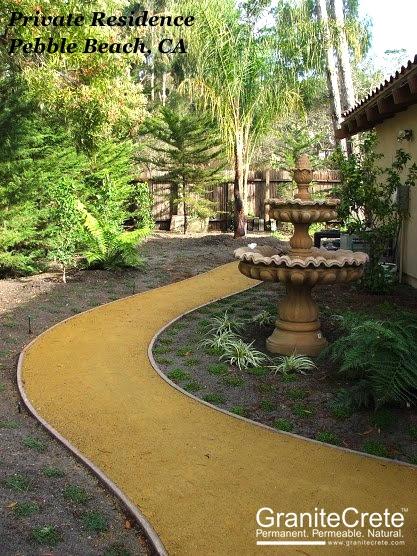 Pebble Beach GraniteCrete Permeable Pathway