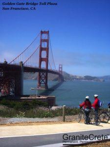 GraniteCrete permeable paving pathway at Golden Gate Bridge Toll Plaza.