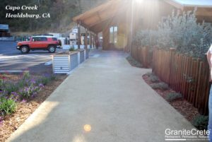 GraniteCrete permeable paving installation at Capo Creek Winery.