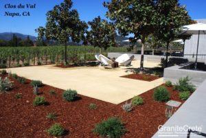 GraniteCrete permeable paving patio at Clos du Val Winery.
