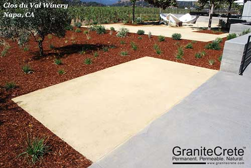GraniteCrete permeable paving patio at Clos du Val Winery.