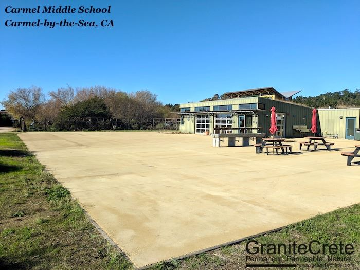 MEarth at Carmel Middle School Green Classroom GraniteCrete Patio