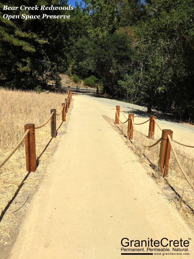 A GraniteCrete pathway at the Bear Creek Redwoods Preserve.