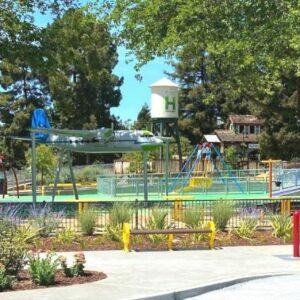 Mia's Playground airplane and water tower.