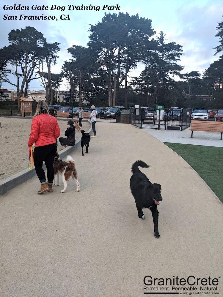 GraniteCrete pathway at Golden Gate Dog Training Park